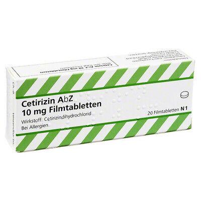10 Mg 20 Tabletten (CETIRIZIN AbZ 10 mg Filmtabletten 20St PZN 06716136)