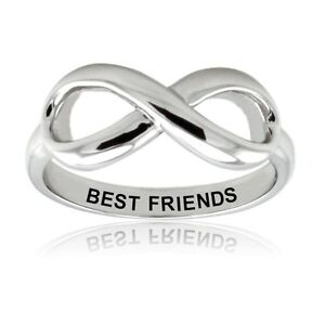 womens sterling silver 925 best friends infinity wedding