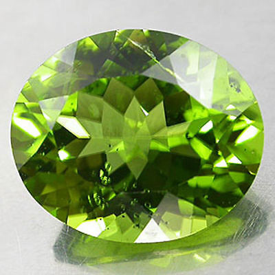 9x7mm OVAL-FACET STRONG-GREEN NATURAL AFGHAN PERIDOT GEMSTONE