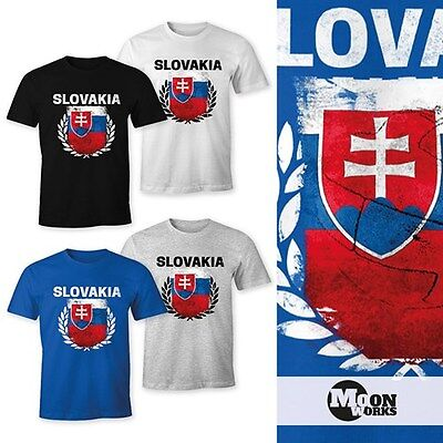 Slowakei Flagge T-shirt (Herren T-Shirt - Fußball EM 2016 Slovakia Slowakei Flagge Vintage - Comfort Fit)