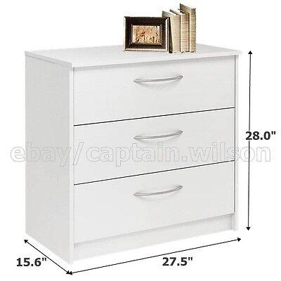 كومودينو جديد Bedroom Storage Dresser Chest, Nightstand with 3 Drawers White
