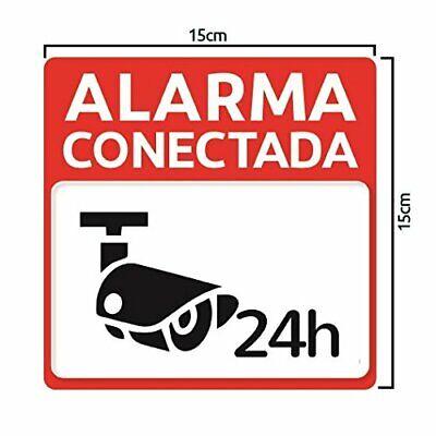 Pegatina adhesiva disuasoria alarma cámaras de vigilancia Alarma conectada 24h