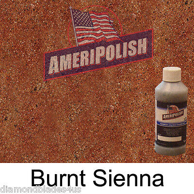 1 Gl. Burnt Sienna Concrete Color Dye 4 Cement Stain Ameripolish Solvent Based