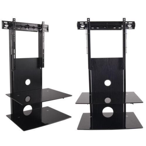 glass component shelf tv video audio accessories ebay. Black Bedroom Furniture Sets. Home Design Ideas