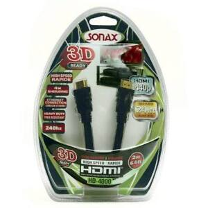New in Box - Sonax HD-4000 Premium 3D High-Speed HDMI Cable