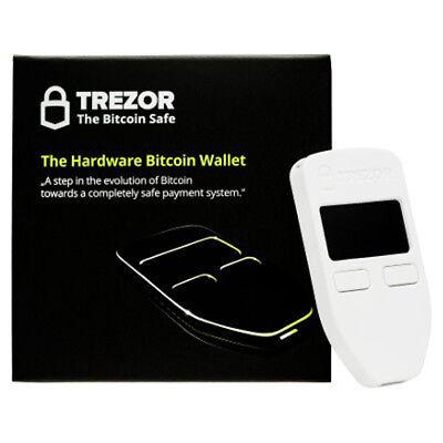 Trezor Hardware wallet for Bitcoin BTC Litecoin LTC ZCash Ethereum Dash White