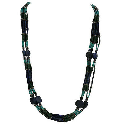 Turquoise and Lapis Necklace Handmade in Afghanistan Equitable Trade