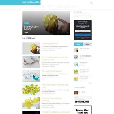 PAPER CRAFT STORE - Fully Stocked Online Business Website For Sale + Domain  (Online Craft Stores)