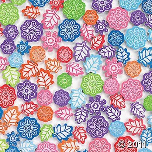 500 Foam Beads - Flower Leaf Colors! Kids Craft ABCraft