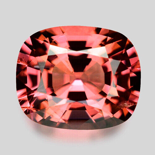 2.29cts GORGEOUS CUSHION CUT NATURAL ORANGISH PINK SPINEL VIDEO IN DESCRIPTION