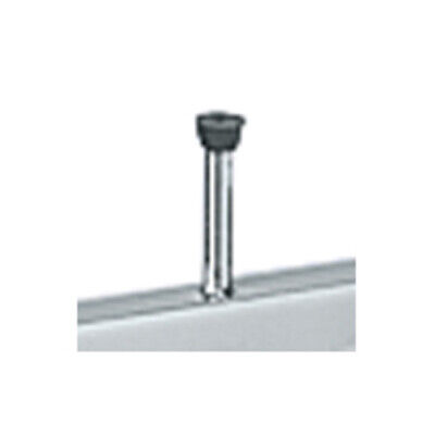Round Garment Rack Shelf Supports In Chrome Plated Steel And Rubber Finish