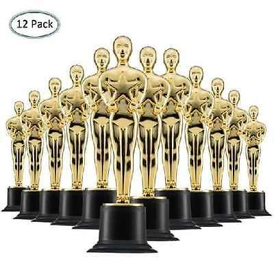12-Pack of Oscar Trophy Style Star Trophies Award - Gold tone Plastic 6