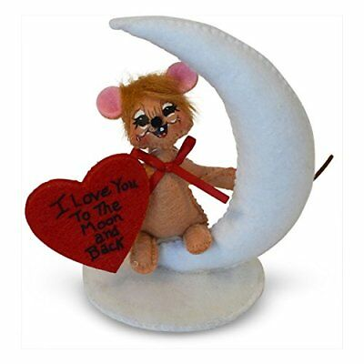 "I LOVE YOU TO THE MOON Valentine's Day Decoration Soft 3D Card 4"" Annalee"