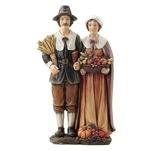 Roman Pilgrim Couple Figurine ~~ Thanksgiving Must-Have ~~ FREE SHIPPING ~~