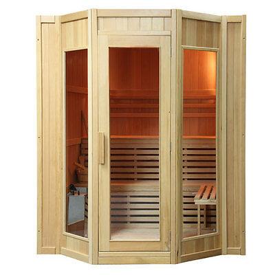 'Kivi' 6 Person Traditional Finnish Hot Rock Wet Steam Sauna Cabin