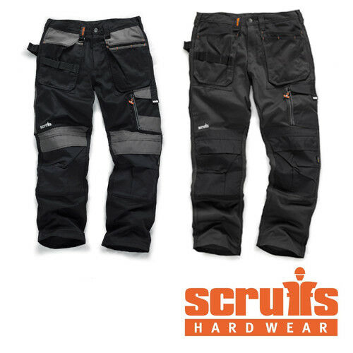 SCRUFFS WORK TROUSERS 3D TRADE GRAPHITE WITH CORDURA FABRIC /& KNEE PAD POCKETS