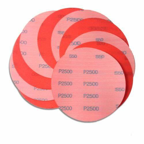 5 Inch 2500 Grit Hook and Loop Wet / Dry Auto Body Film Sand