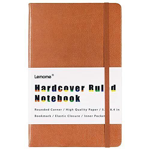 """Ruled Notebook/Journal - Plain/Classic Notebook/Journal, 8.4"""" X 5.3"""", brown"""