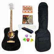 Black Cutaway Acoustic Guitar