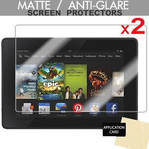 2 x ANTI GLARE MATTE LCD Screen Protectors for Amazon Kindle Fire HD 7.0 7