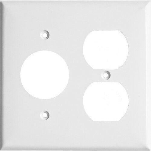 Morris 81686 2 Gang 2 Duplex 1 Single Receptacle Lexan Wall Plate - White