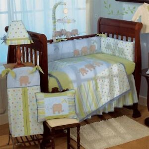 BNIB CoCaLo Elephant Parade Crib Bedding Set