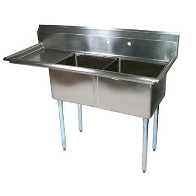 John Boos E2s8-1620-12l18 E-series Two Compartment Sink W 18 Left Drainboard