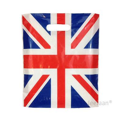 100 Union Jack Plastic Carrier Bags 15