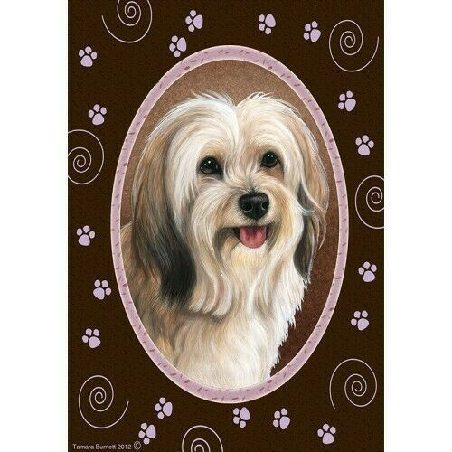 Paws House Flag - Cream Sable Tibetan Terrier 17479