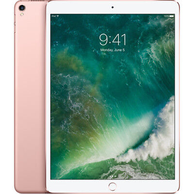 Apple iPad Pro 2nd Gen. 64GB, Wi-Fi + Cellular (Unlocked), 10.5in - Rose Gold