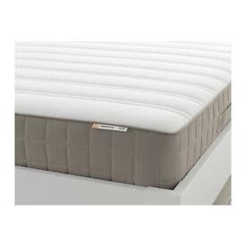 Sprung mattress IKEA HAMARVIK 90x200 cm, Firm, dark beige