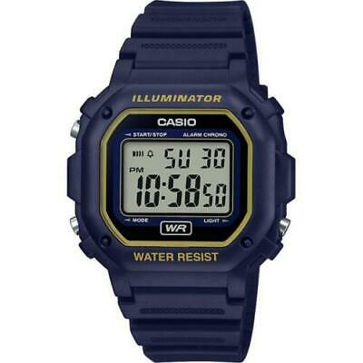 Casio F108WH-2A2, Chronograph Watch, Blue Resin, Alarm, 7 Year Battery