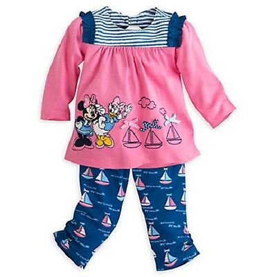 Minnie Mouse Outfit For Infants (DISNEY STORE MINNIE MOUSE & DAISY KNIT SET FOR BABY PANTS & TOP NWT CUTE)