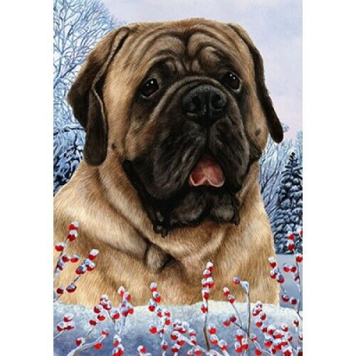 Winter Garden Flag - Fawn Mastiff 151131