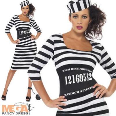 Sexy Classy Convict Ladies Cops & Robbers Prisoner Hen Party Fancy Dress Costume](Cops & Robbers Costumes)
