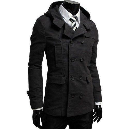 Mens Long Black Trench Coat | eBay
