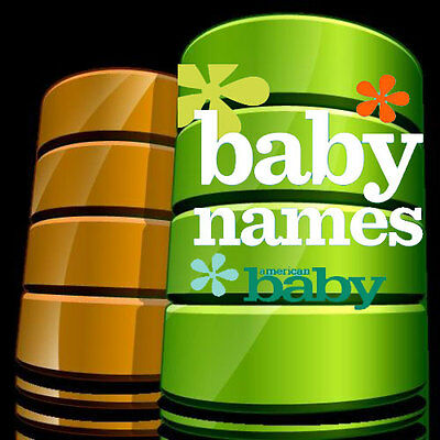 85000 Baby Names Database - Only Database Available On The Internet
