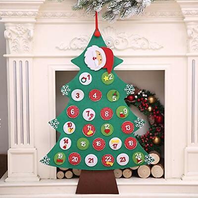 iFCOW Christmas Countdown Calendar Christmas Advent Calendar Xmas Decoration ...