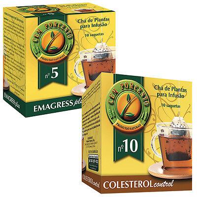 Cholesterol Control Plant - Cem Porcento Plants Mixture for Infusion Tea *Emagress Plus *Cholesterol Control