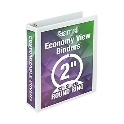 Samsill Economy 3 Ring Presentation View Binder 2 Inch Round Ring Holds 425