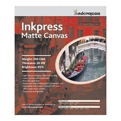 - Inkpress Canvas Matte Matte Inkjet Photo Paper 8.5