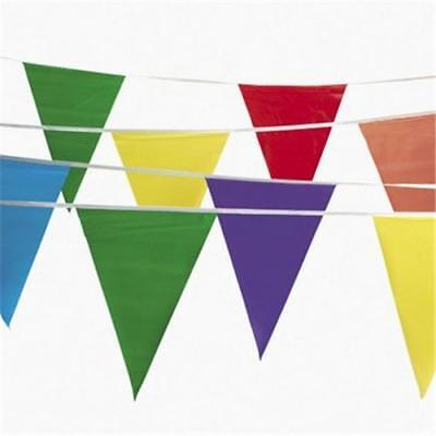 Colorful Pennant Banner (100' Multi Color Flag Banner Pennant 48 12' X 18