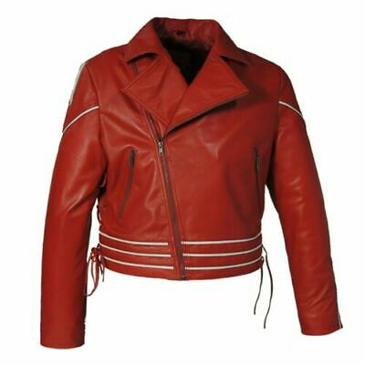 Freddie Mercury Wembley Concert Red Biker Halloween Faux Leather Jacket - Wembley Halloween