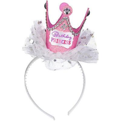 BIRTHDAY PRINCESS DELUXE TIARA HEADBAND ~ Party Supplies Favor Accessory Pink