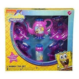 Sambro Spongebob Bubble Tea Set New In Box