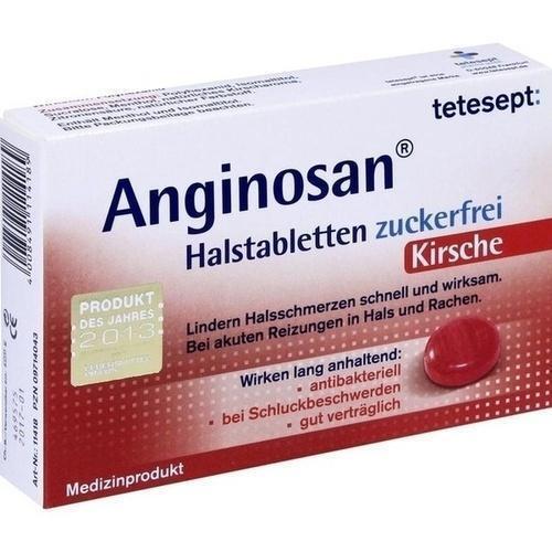 TETESEPT Anginosan Halstabletten zuckerfrei Kirsch 20 St