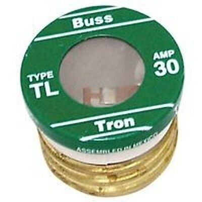 (NEW LOT OF (16) TL-30 BUSSMAN 30 AMP SCREW IN  BASE HOUSE PLUG FUSES 4182135)