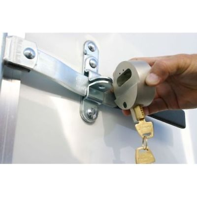 New Hockey Puck Internal Shackle Trailer Door Lock Padlock