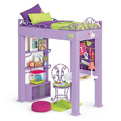 American Girl McKenna's LOFT BED SET Desk Bedding BEDROOM 32 pc for McKenna Doll