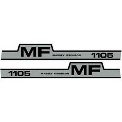 New 1105 Massey Ferguson Tractor Hood Decal Kit Mf 1105 High Quality Decals